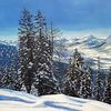 Winter, Alpen, Berge, Landschaft