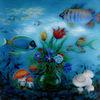 Botanik, Tiefe, Acrylmalerei, Fisch