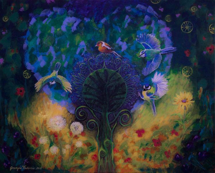 Fantasie, Blühen, Farben, Surreal, Garten, Stimmung