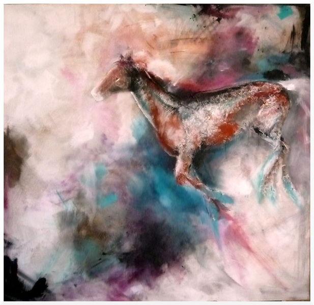 Galopp, Schwung, Schatten, Farben, Licht, Pferde