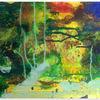 Klecksen, Acrylmalerei, Bunt, Wald