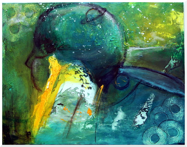 Abstrakt, Kind, Welt, Stern, Malerei