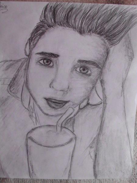 Junge, Portrait, Zeichnung, Zeichnungen
