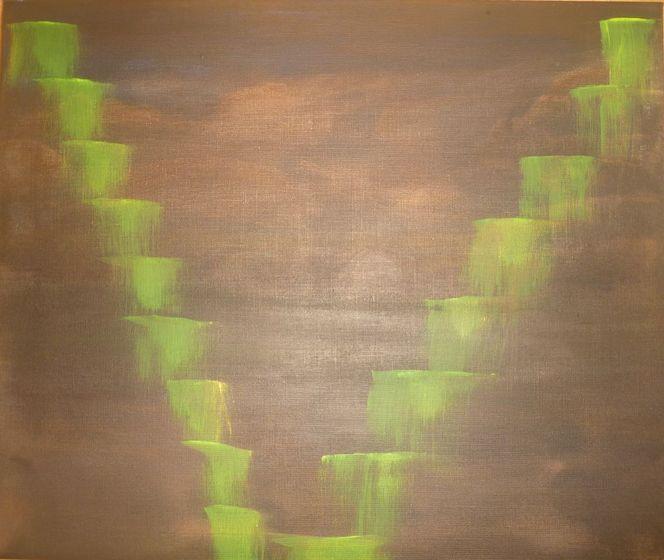 Treppe keller dunkelheit, Malerei, Bizarr, Treppe