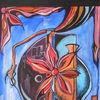 Abstrakt, Vase, Acrylmalerei, Kalt und warm