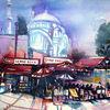 Minaretten, Istanbul, Großer basar, Menschen