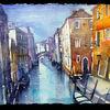 Kanal, Haus, Italien, Boot