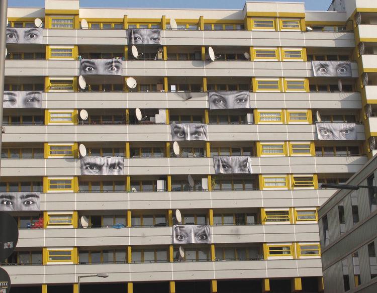 Berlin, Raum, Collage, Portrait, Fotografie, Augen