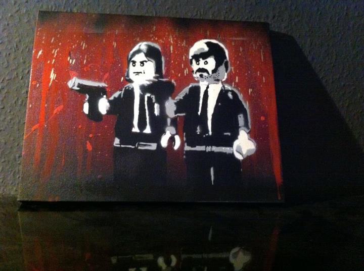 bild graffiti auf leinwand malerei it von art on canvas bei kunstnet. Black Bedroom Furniture Sets. Home Design Ideas