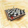 Schach schachbrett, Mächtigen, Bauernopfer, Umgekippter bauer