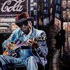 John lee hooker, Berndtart, Neonschilder, Bluesmusiker