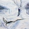 Reiter, Winterlandschaft, Berndtart, Schneegestöber