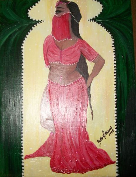 Tunesien, Afrika, Belly dancer, Malerei, Real, Figural
