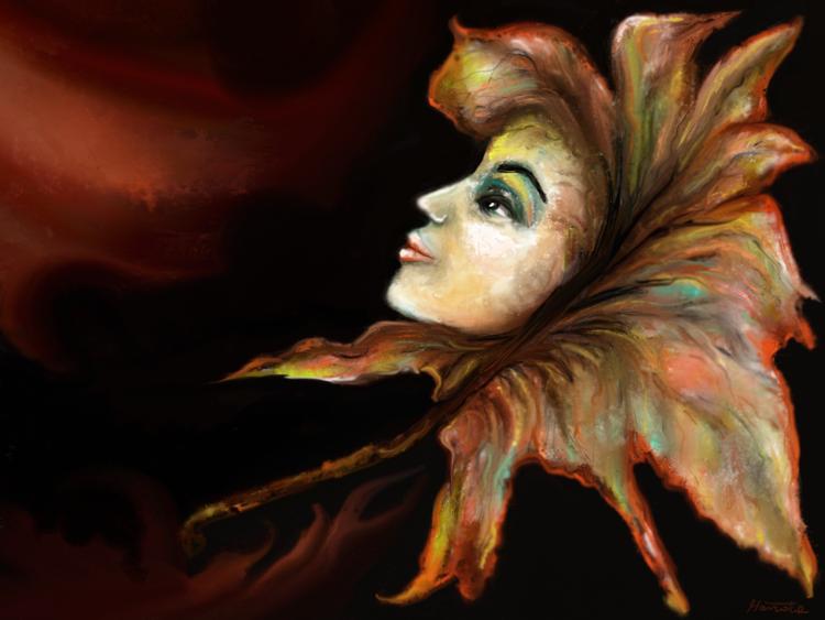 Fantasie, Blätter, Bunt, Herbst, Digitale kunst, Surreal
