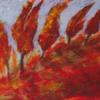 Ausdruck, Herbst, Malerei, Rot