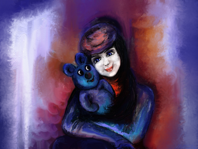 Fantasie, Teddybär, Digitale kunst