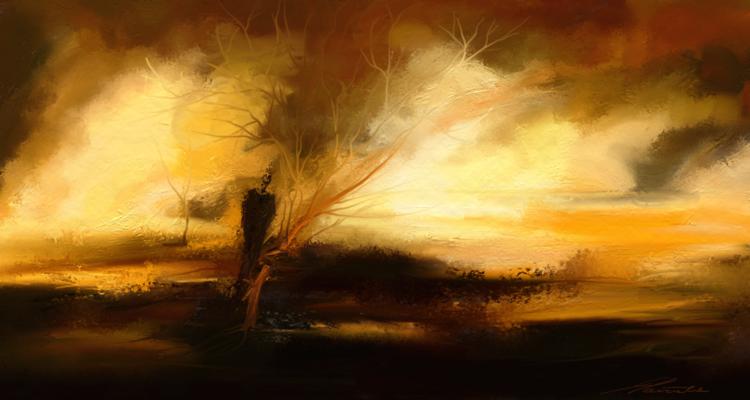 Fantasie, Rückblick, Malerei, Digitale kunst, Zeit, Gehen