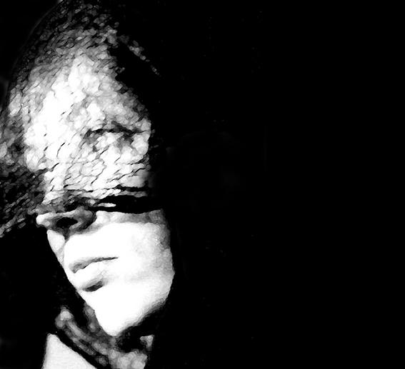 Frau, Schwarz weiß, Seitlich, Portrait, Fotografie,