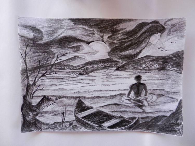 Gedanken, Wolken, Himmel, Traum, Landschaft, Gefühl