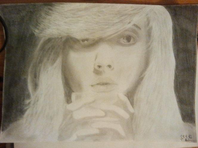 Portrait, Bleistiftzeichnung, Glas, Frau, Zeichnungen, Trinken