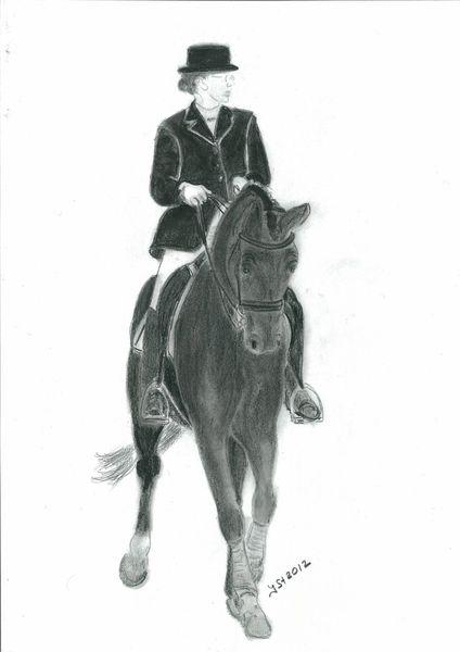 In bewegung, Pferdeportrait, Tierzeichnung, Pferde, Pferdezeichnung, Szene