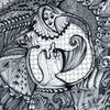 Zeichnung auf papier, Der zwerg, Tanglic, Zeichnungen