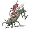 Grashüpfer, Elfen, Rodeo, Illustrationen