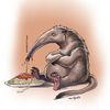 Zeichnung, Ameisenbär, Spaghetti, Illustrationen