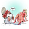 Santa, Weihnachtsmann, Toilette, Illustrationen