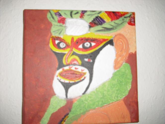 Bunt, Farben, Gestaltung, Gesicht, Malerei, Portrait