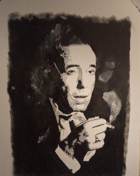 Bogey, Humphrey bogart, Bogart, Malerei