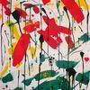 Rot schwarz, Acrylmalerei, Gelb, Abstrakt
