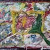 Blumen, Blüte, Collage, Malerei