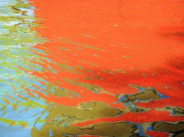 Struktur, Wasser, Spiegelung, Farben, Fotografie