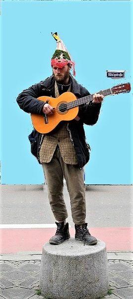 Auftritt, Aufführung, Kappe, Kurios, Gitarre, Königsstrasse