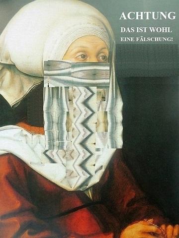 Frau, Paraphrase, Renaissance, Verhüllung, Plakatkunst, Verschleierung
