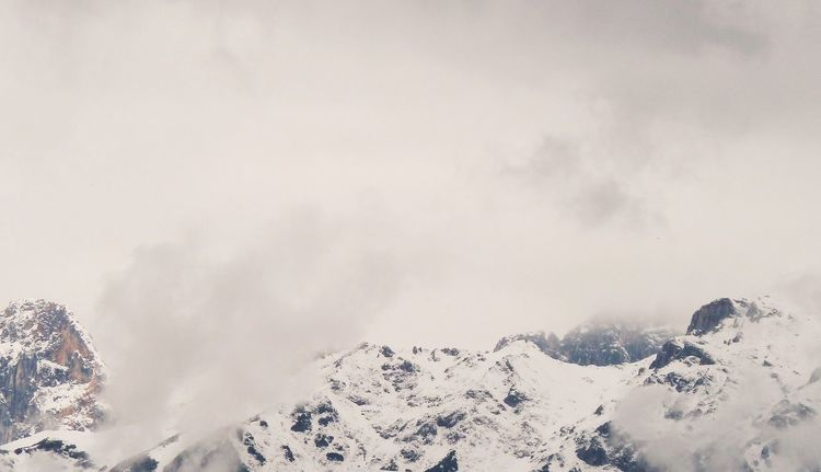 Schnee, Wolken, Berge, Panorama, Fotografie