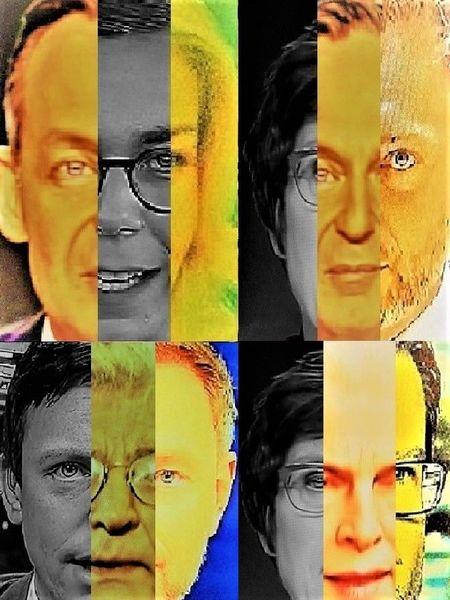 Mann, Politische farbenlehre, Poker, Frau, Gesicht, Portrait