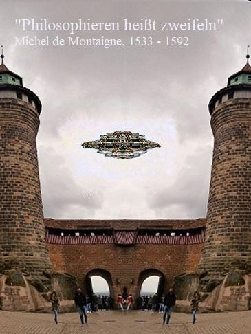 Flugkörper, Zweifel, Nürnberger burg, Philosophie, Ufo, Fotografie