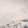 Panorama, Schnee, Wolken, Berge