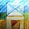Architektur, Rupfen, Fragment, Acrylmalerei
