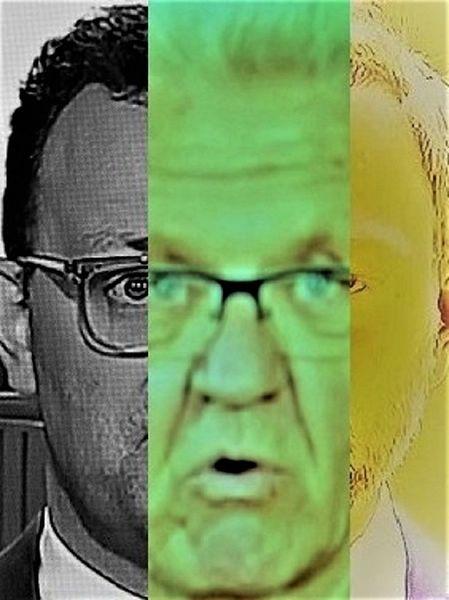 Politische farbenlehre, Gesicht, Menschen, Synthese, Mann, Kopf