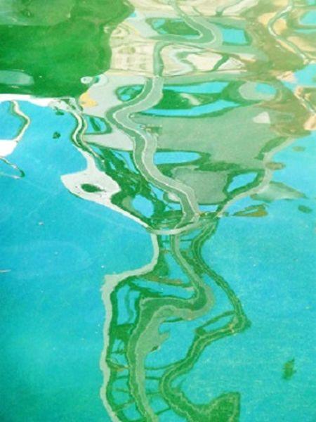 Hafen, Toscolano, Wasser, Abstrakt, Spiegelung, Surreal