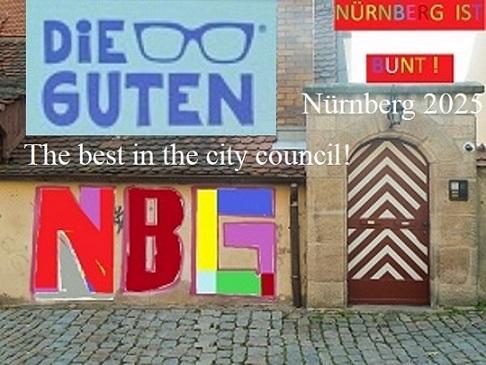 Nürnberg 2025, Tor, Kommunalwahl, Botschaft, Bunt, Wählergemeinschaft