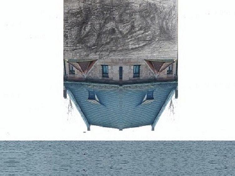 Fotografie, Haus, Zeichnung, See, Collage, Meer