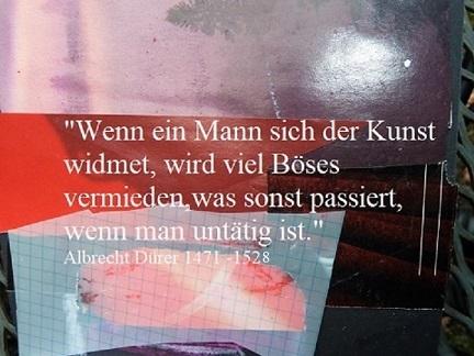 Botschaft, Zitat, Böses vermeiden, Text, Albrecht dürer, Kunst widmen