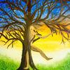 Dämmerung, Baum, Befreiung, Tanz