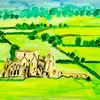 Landschaft, Abtei, Irland, Ruine