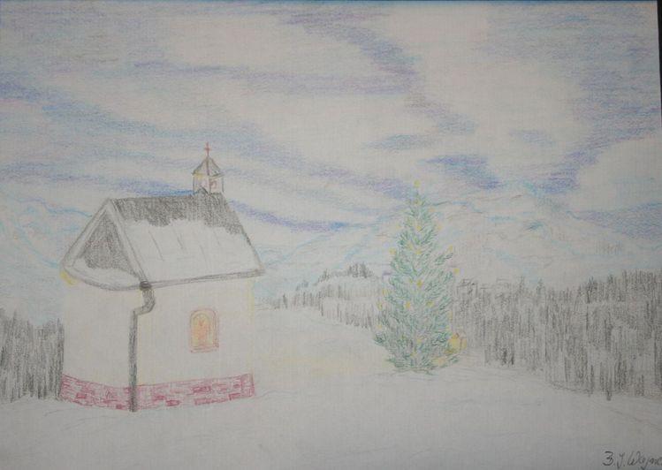 bild weihnachten berge stille kirche von beatrice ines. Black Bedroom Furniture Sets. Home Design Ideas