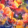 Blumen, Aquarellmalerei, Hortensien, Garten